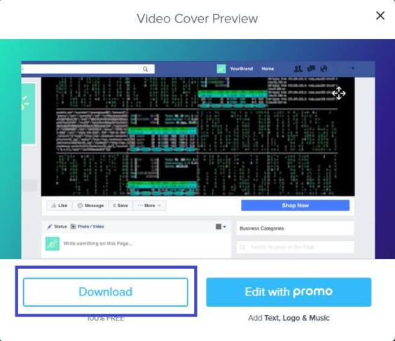 download facebook cover video