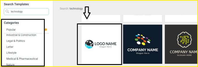select custom logo design