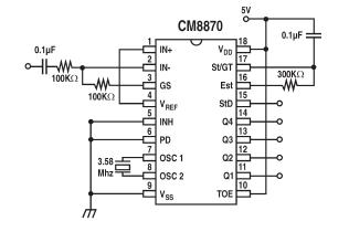 Need a dtmf pic circuit diagram with 8051 microcontroller