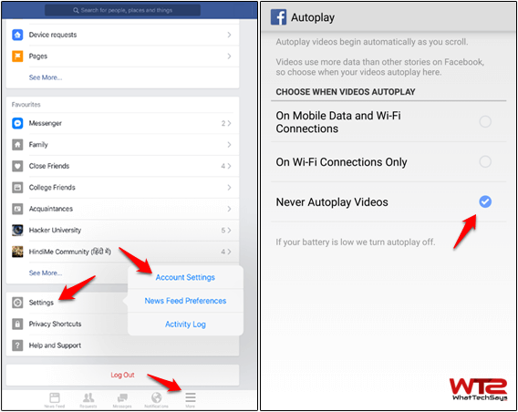 Disable Autoplay for Facebook Videos