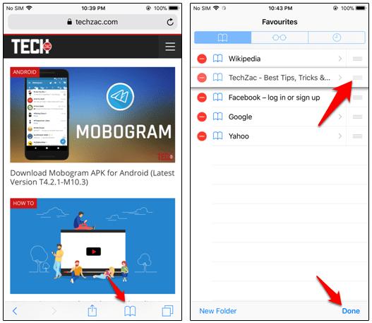 How to Edit Favorites in Safari