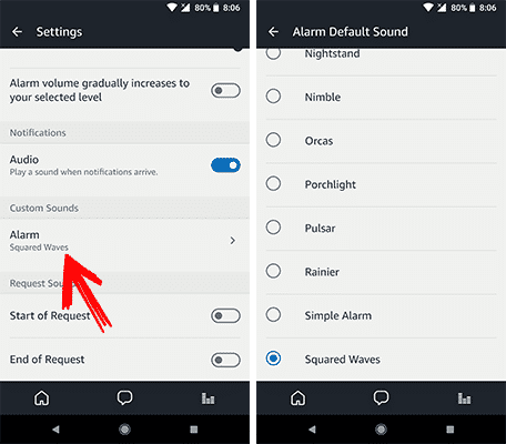Change Alarm Sound on Amazon Echo