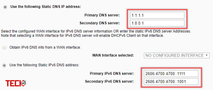 Use Cloudflare's 1.1.1.1 DNS on Router