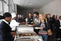 Attendees being served lunch