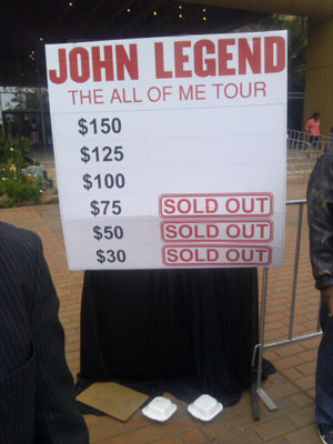 Tickets Sold Out JLegend