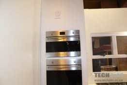 Smoke detectors above the oven