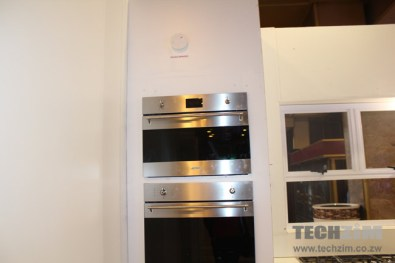 Smoke detectors above the oven