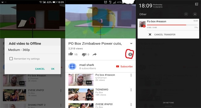 YouTube, Offline, Internet
