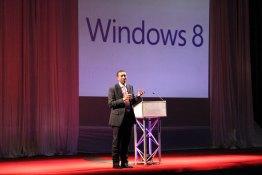 ICTSAZ, President, Harold Muvuti, presenting at the Windows 8 Launch