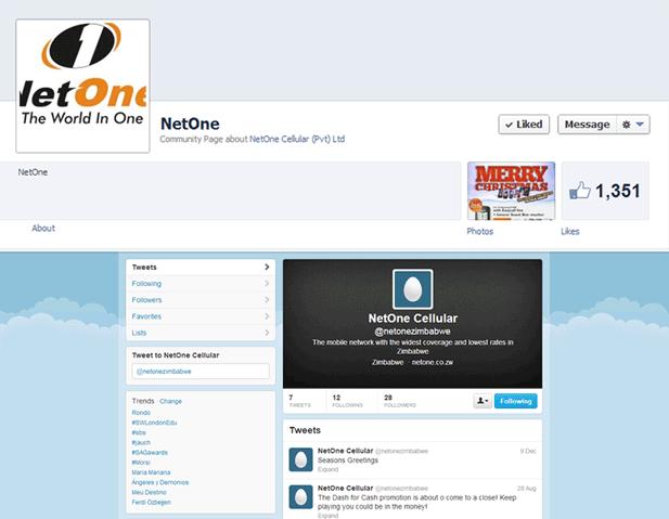 NetOne Facebook page