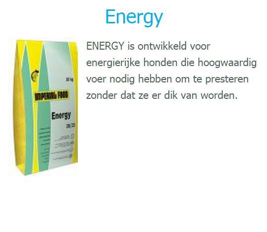 De brok voor energieke honden. 60,50 euro / 20 kilo