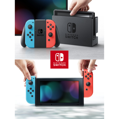 Nintendo Switch 32GB Console (Neon Red/Blue Controllers) | Teck Galaxy