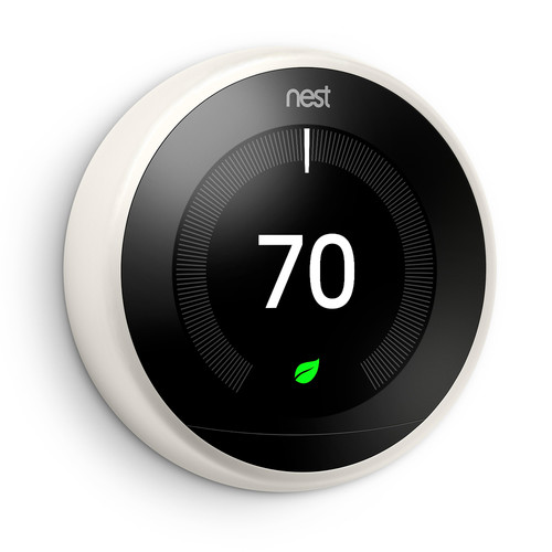 Google Nest Learning Smart Wi-Fi Thermostat - White   Teck Galaxy
