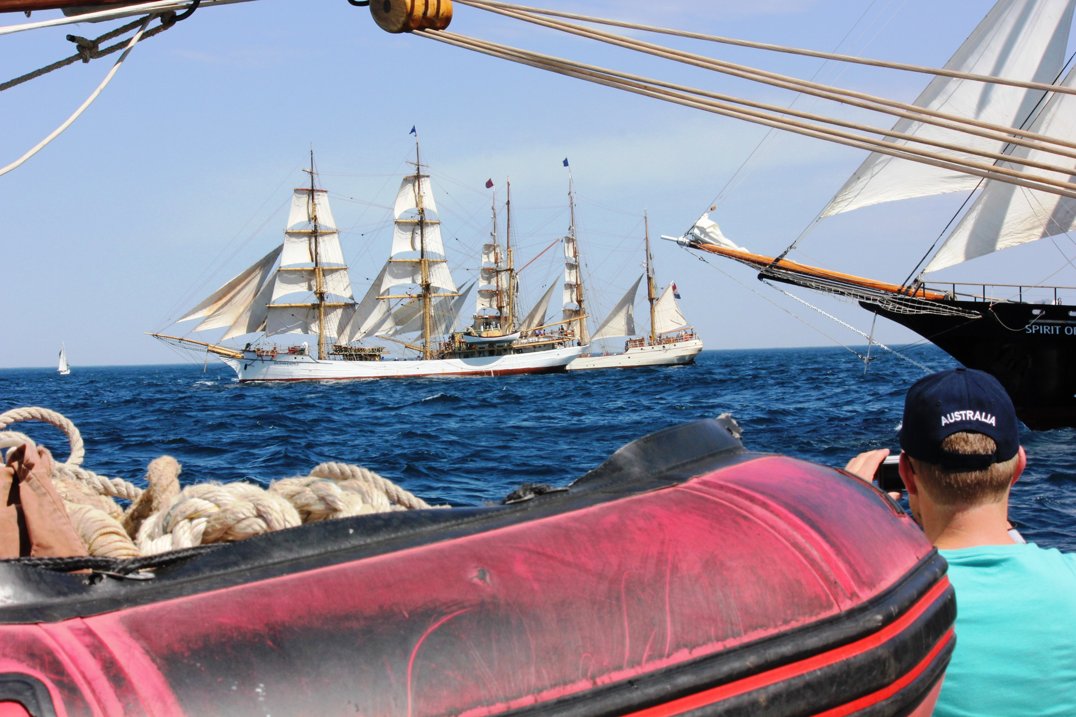 sydney to auckland race start off the tall ships regatta