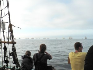 Together during the Tall Ships Races