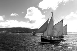 Tecla in the harbour of Hobart
