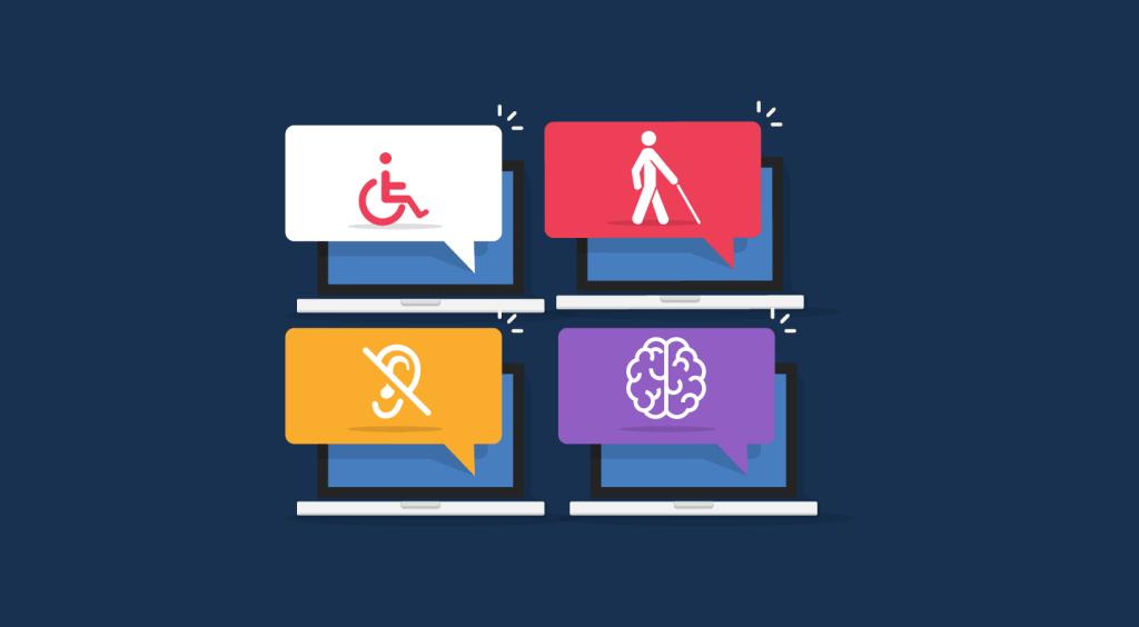 Ilustração das acessibilidades digitais