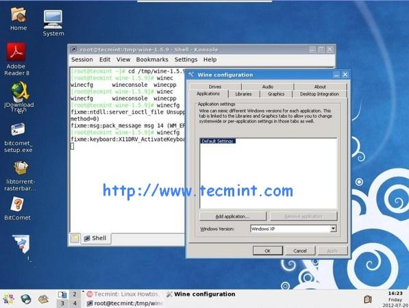 Winecfg Screen