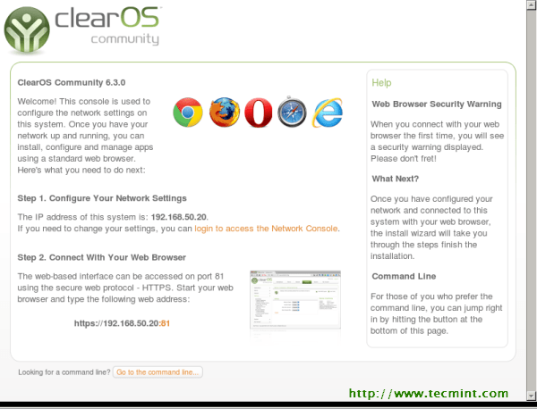 ClearOS 6.3 Post Installation