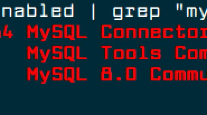 Überprüfen Sie das MySQL Yum Repository