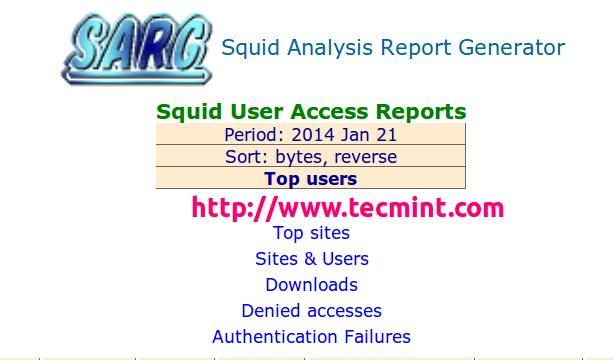 Install Sarg Squid Log Analyzer