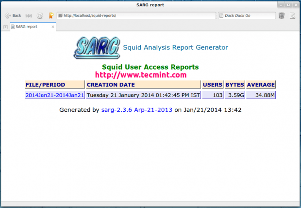 Squid Log Analyzer