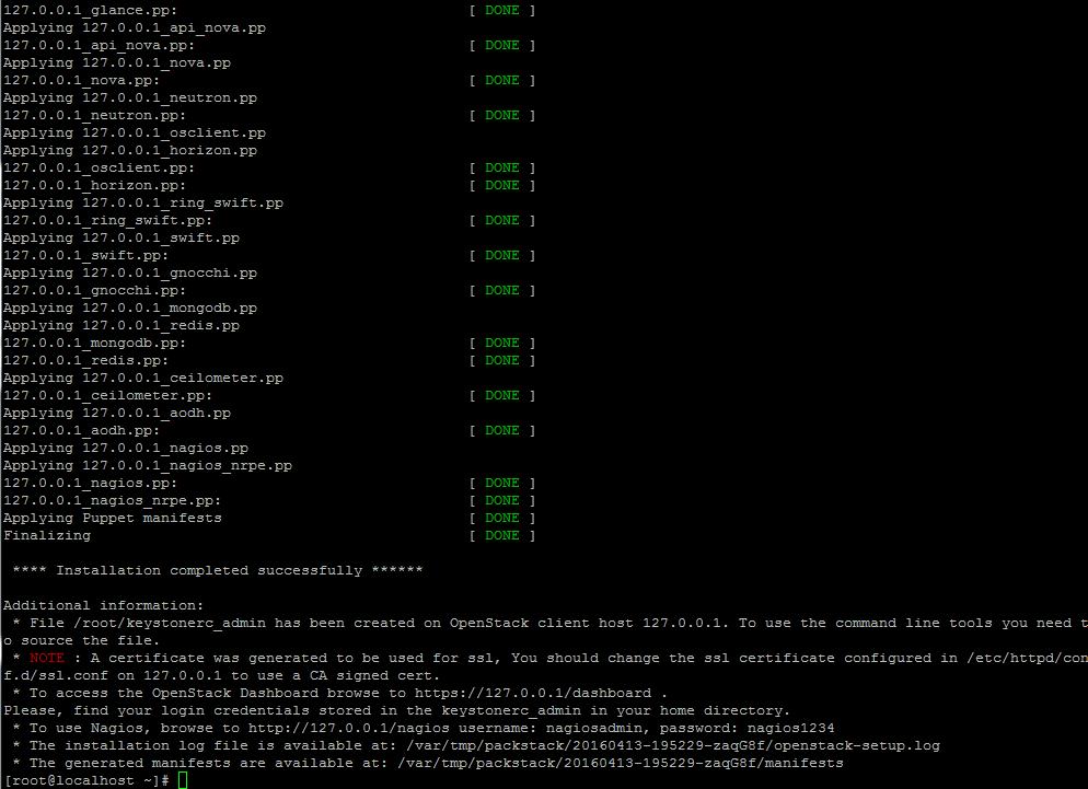 OpenStack Kurulumu Tamamlandı