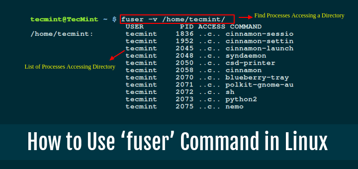 Learn How To Use 'fuser' Command With Examples In Linux