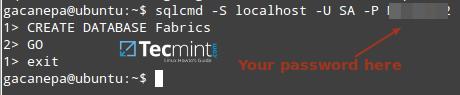 Create MSSQL Database on Linux