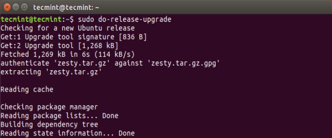 Perform Release Upgrade
