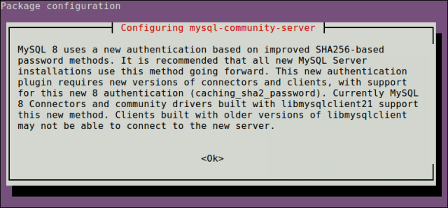 MySQL Authentication Configuration