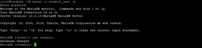 Access MariaDB Database