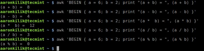 Do Basic Math Using Awk Command