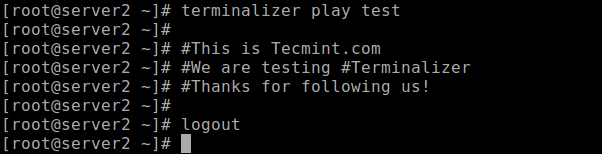 Replay Recorded Linux Terminal Session