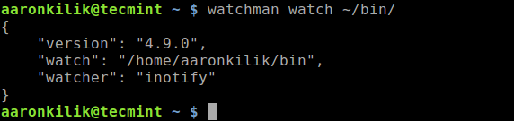 Watch a Directory in Linux
