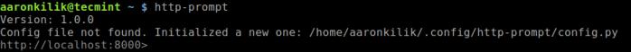 Start HTTP Prompt