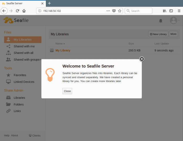 Seafile Welcome Page