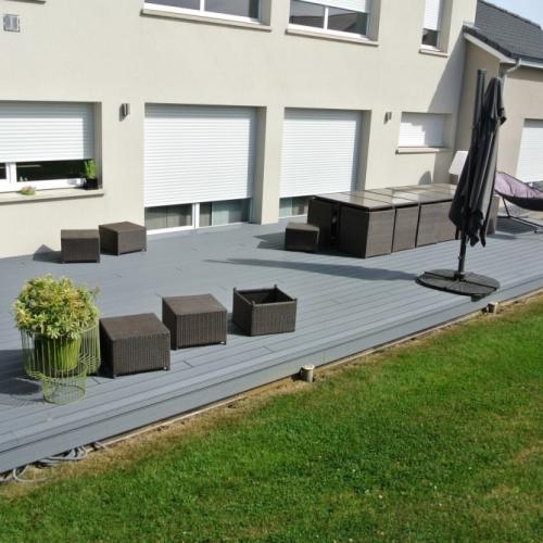 Tecnhome Terrasse Composite Upm Gris M Kanfen Moselle