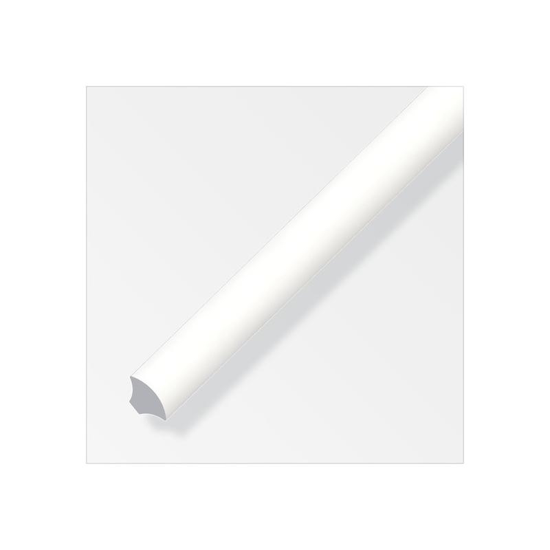 Quart De Rond Pvc Blanc 14mm Longueur 2 5m Tecniba