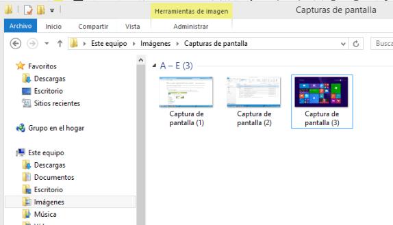 Cómo tomar una captura de la pantalla completa - Carpeta donde se guardan las capturas de pantalla