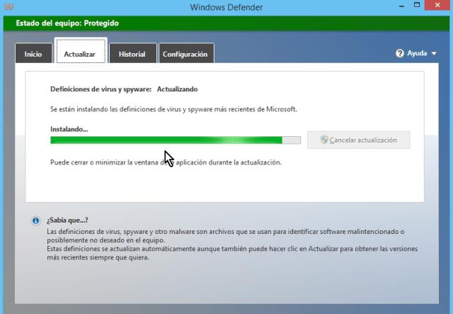 Cómo usar el antivirus de Windows - Instalando actualizaciones del antivirus