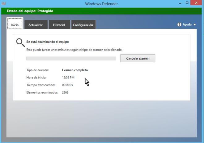 Cómo usar el antivirus de Windows - Examinando el equipo