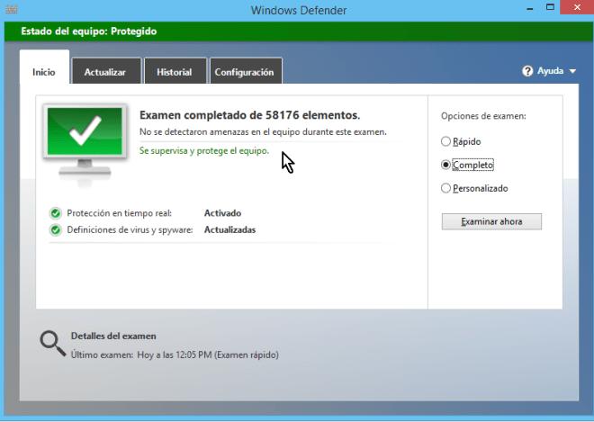 Cómo usar el antivirus de Windows - Resultados del examen de antivirus