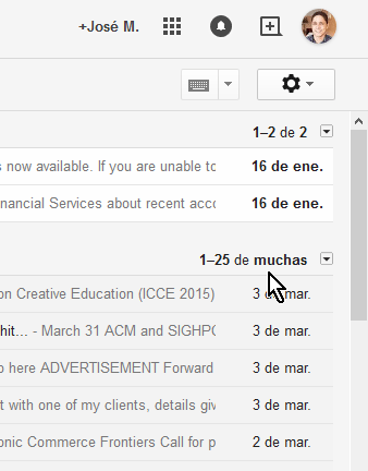 Cómo ver los mensajes más nuevos en Gmail - Indicador y contador de correos