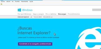 Descargar o actualizar Microsoft Internet Explorer