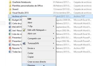 Cómo borrar archivos en Windows 8