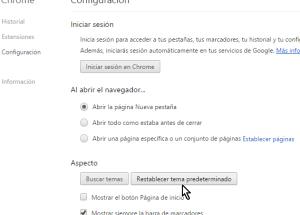 Cómo desinstalar un tema de Google Chrome