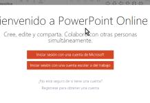 Pantalla para iniciar una sesión - Cómo usar Microsoft PowerPoint Online