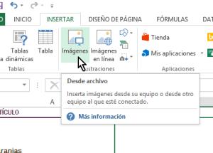 Cómo insertar imágenes en Excel