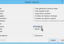 Opción Multiplicar el Pegado especial en cómo multiplicar en Excel